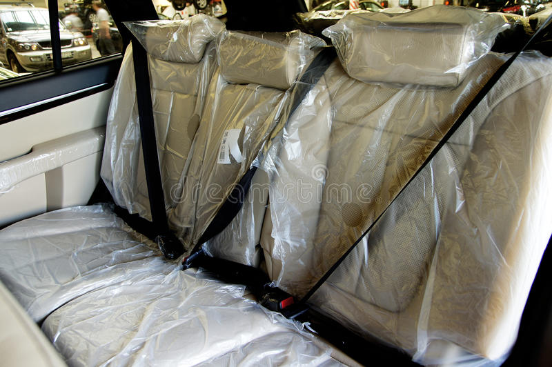 Back Passenger Seats In Car Stock Photo