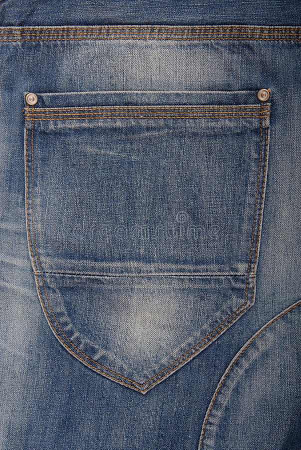 A back pocket is on jeans. royalty free stock photo
