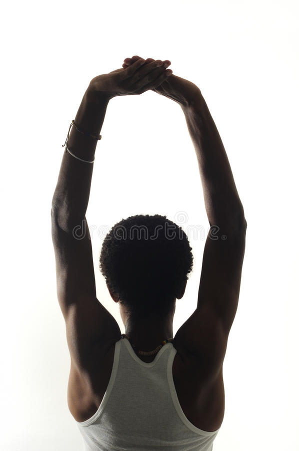 Back portrait of young african american man royalty free stock photography