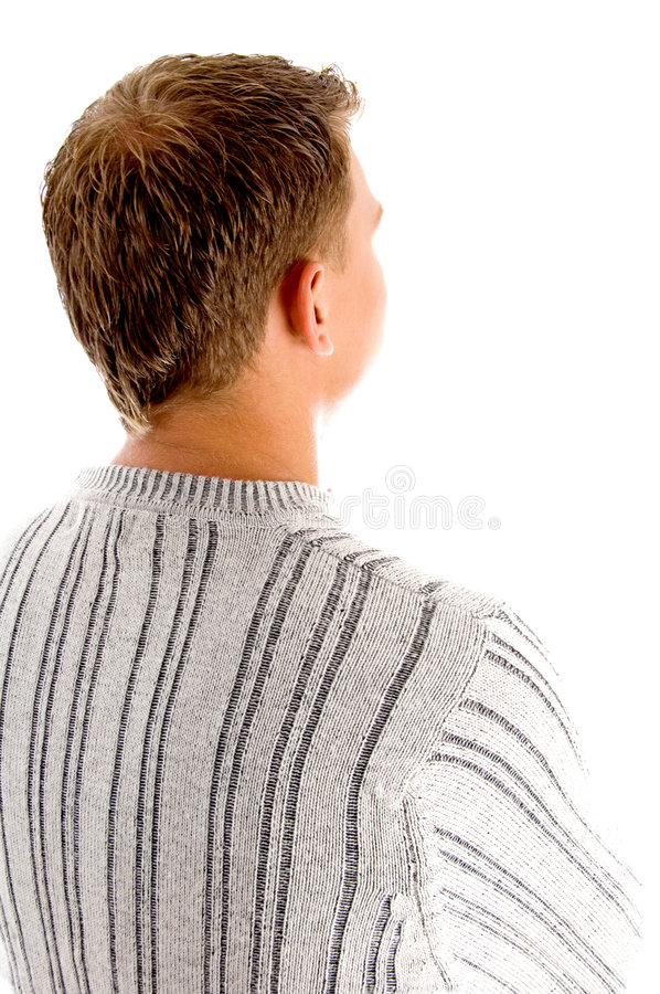 Back pose of guy royalty free stock photos
