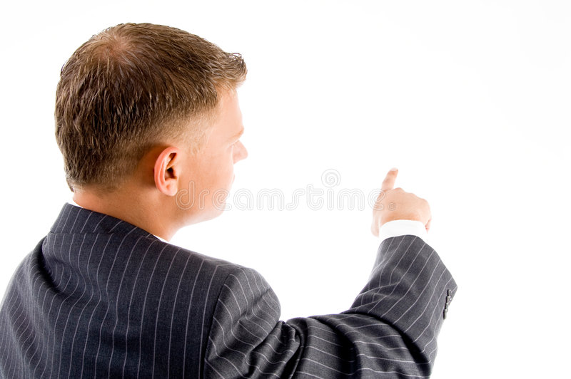Back pose of handsome ceo stock photo