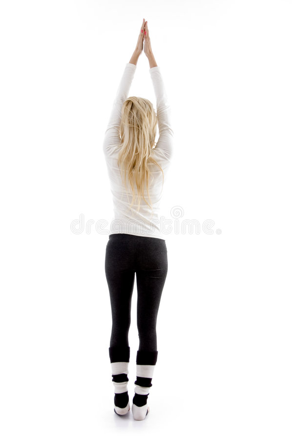 Download Back Pose Of Woman Exercising Stock Images - Image: 7367794