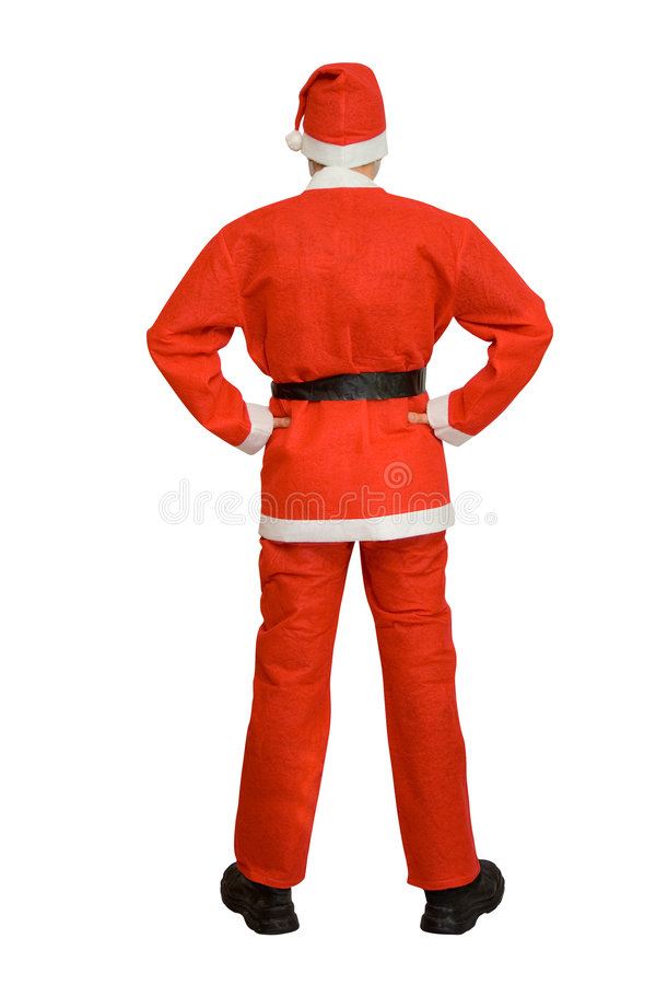 Download Back Of Santa Claus Stock Photography - Image: 1609292