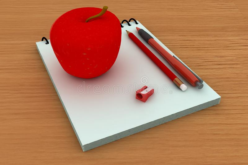 Back at school stock images
