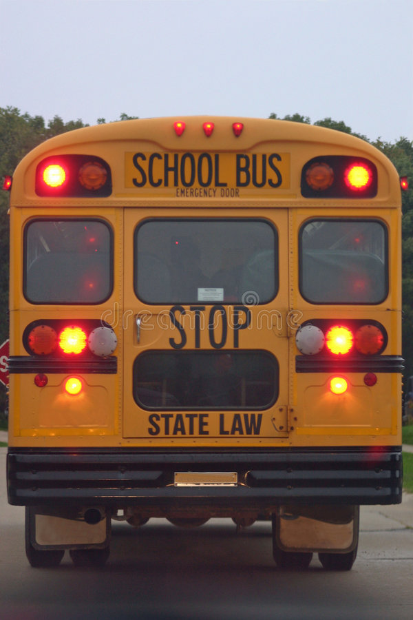 Back of School Bus royalty free stock images