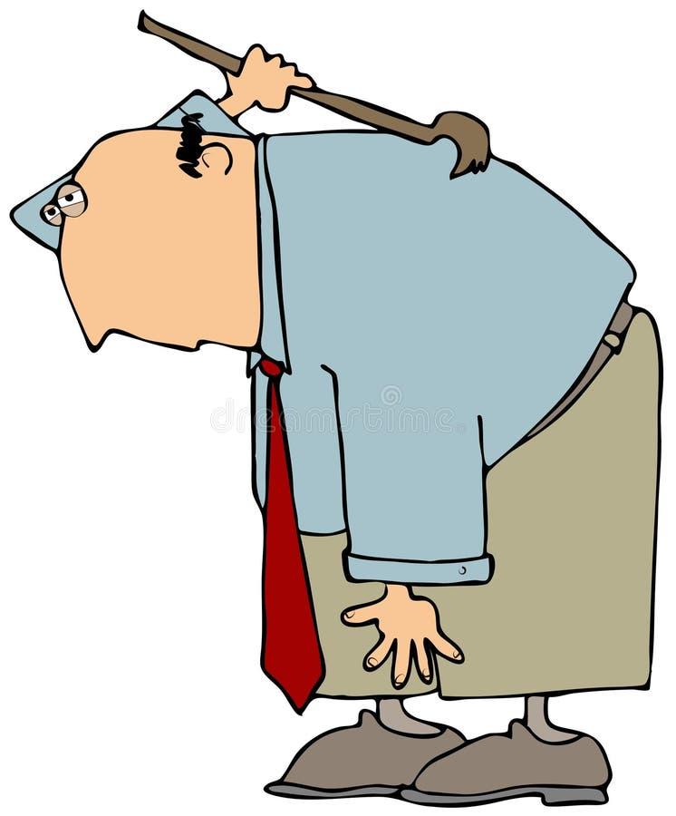 Download Back Scratcher stock illustration. Image of male, scratch - 6254803