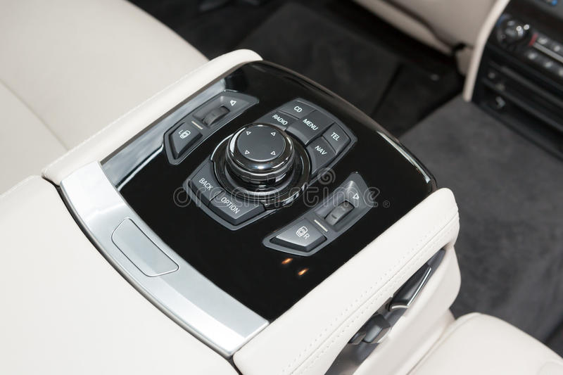 Download Back Seats Commands In Luxury Car Royalty Free Stock Images - Image: 31855019