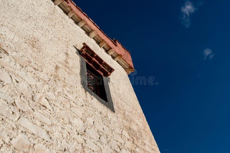Window on the wall of Shey Palace Leh Ladakh ,Jammu and Kashmir , India stock image