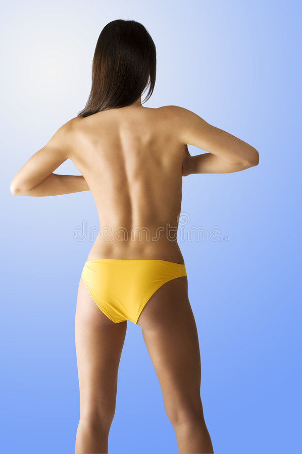 The back side body stock photography