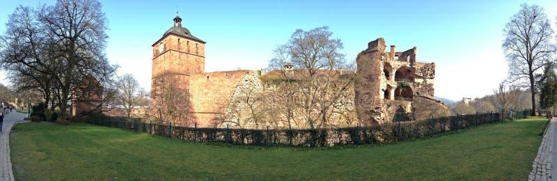 The back side of Heidelberg Castle stock photos