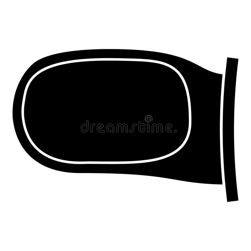 Back side mirror icon black color illustration flat style simple image. Back side mirror icon black color vector illustration flat style simple image royalty free illustration