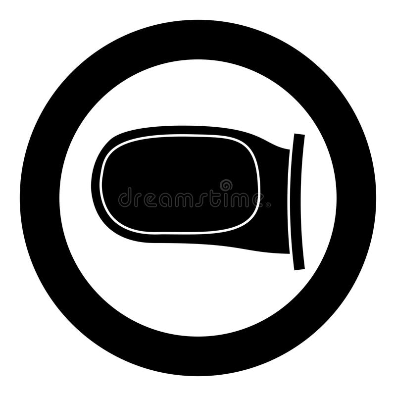 Back side mirror icon black color vector illustration simple image. Flat style vector illustration