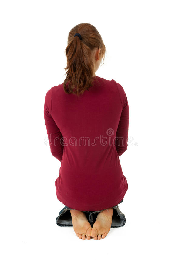 Download Back Of Sitting On Alloys Woman Stock Photos - Image: 15646483