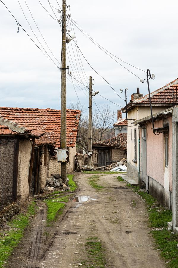 Back street in village royalty free stock photos