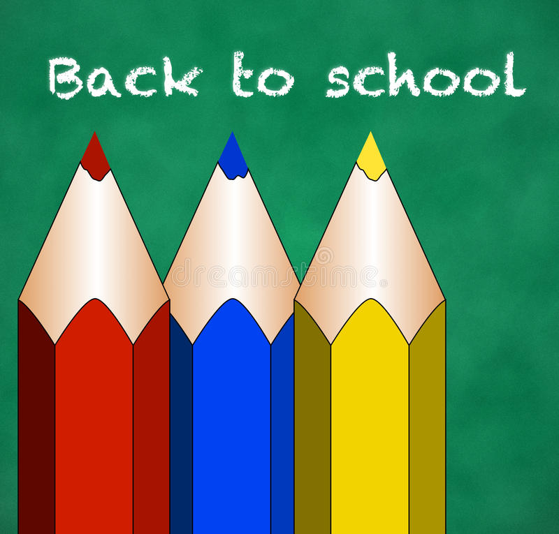Download Back to elementary school stock illustration. Image of back - 32579713