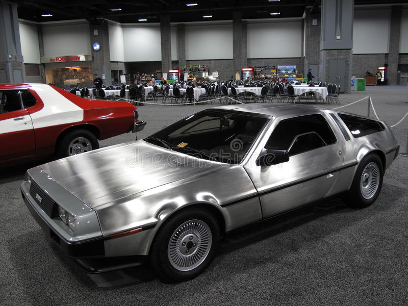 Back to the Future Delorean royalty free stock image