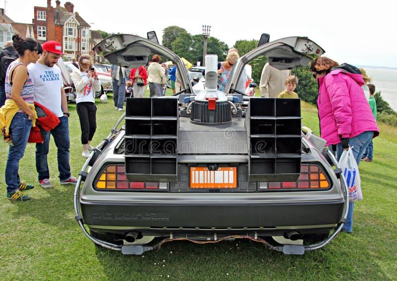 Back to the future delorean car stock photos