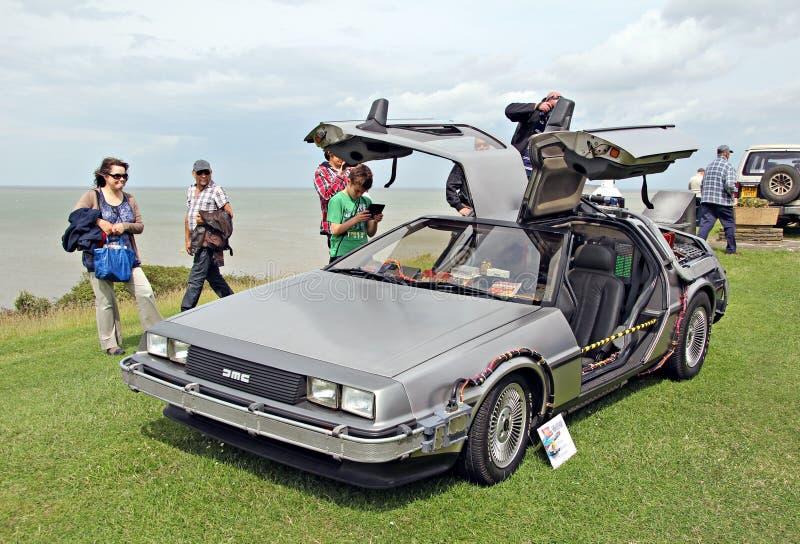 Back to the future delorean car stock image