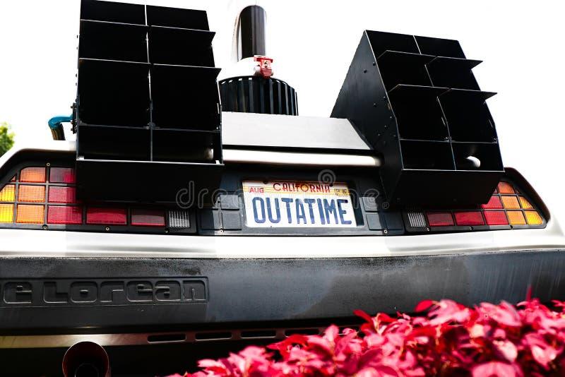 Back to the Future DeLorean stock image
