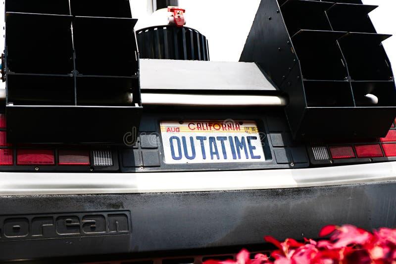 Back to the Future DeLorean stock photo