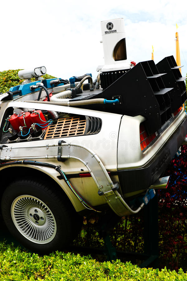 Back to the Future DeLorean stock images