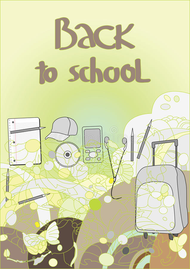 Back to school, royalty free illustration