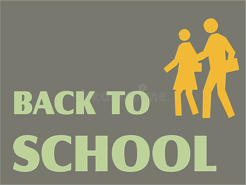Back to School. Background stock illustration