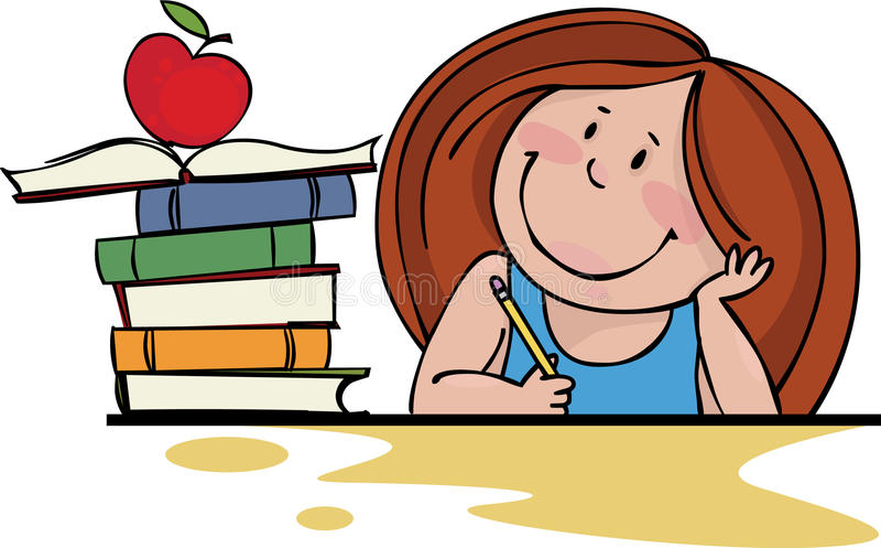 Download Back to school stock vector. Image of cartoon, girl, school - 15560302