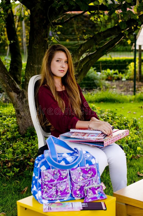 Download Back to school stock photo. Image of colors, fashion - 15870854