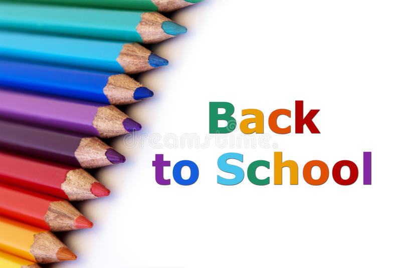 Back to school. Colorful pencils with the words back to school