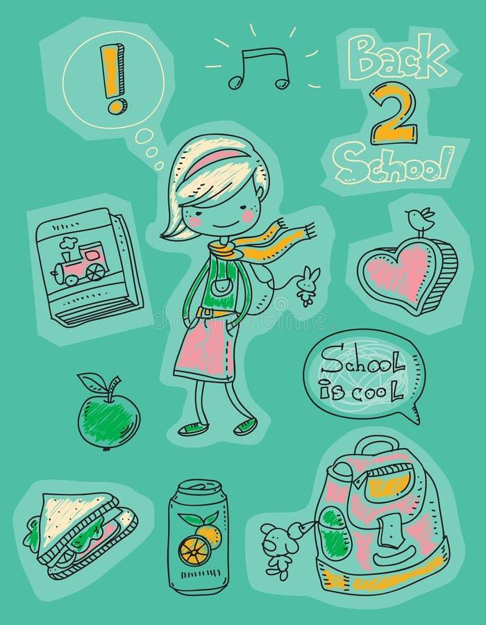 Download Back to school stock vector. Image of message, cartoon - 20720234