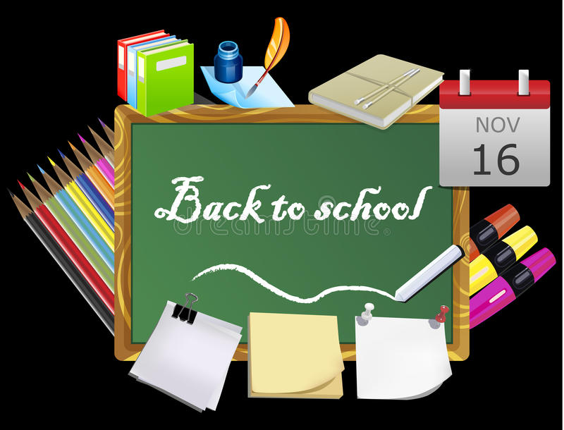 Download Back to school stock illustration. Illustration of classroom - 22832941