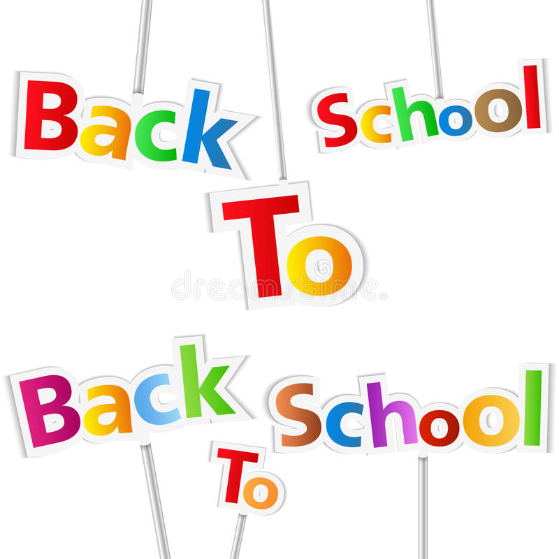 Back To School. Words on white background royalty free illustration