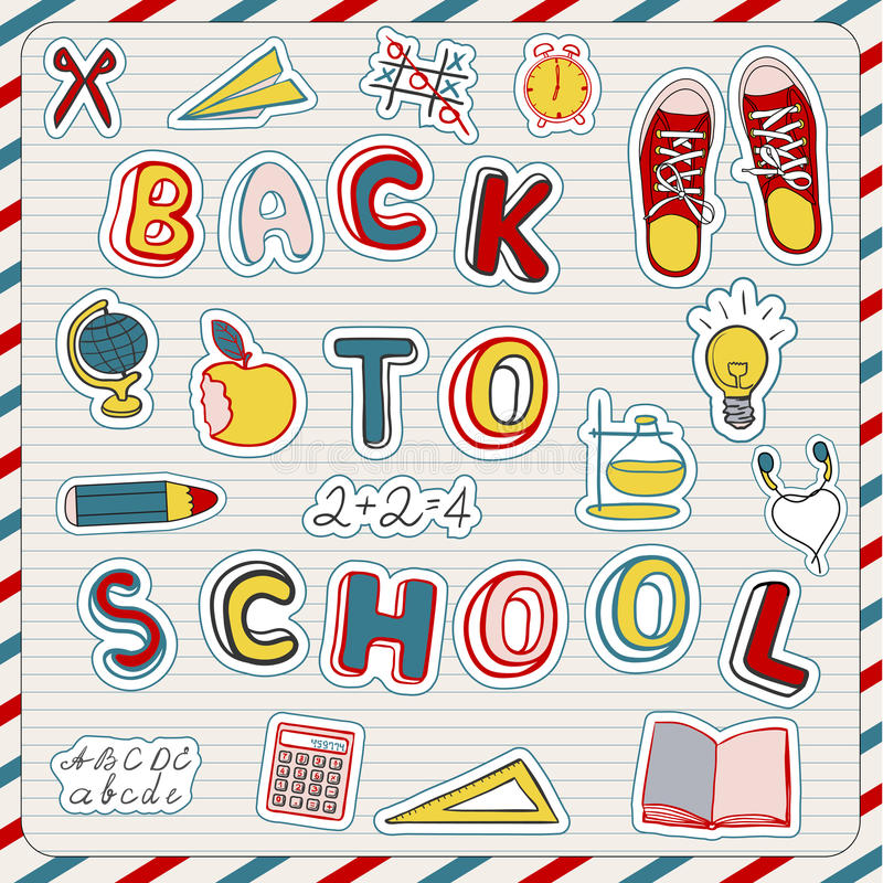 Download Back to school stock vector. Image of paper, student - 25831507