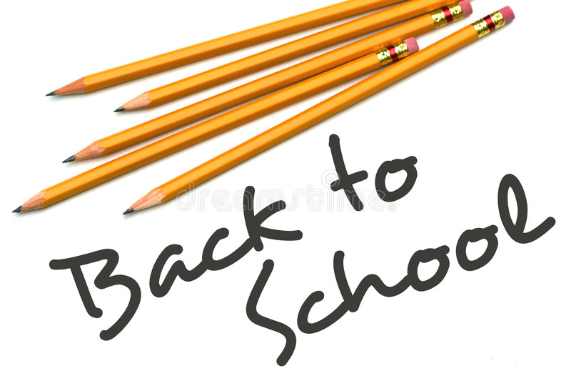 Back to School. Type with number two pencils stock image