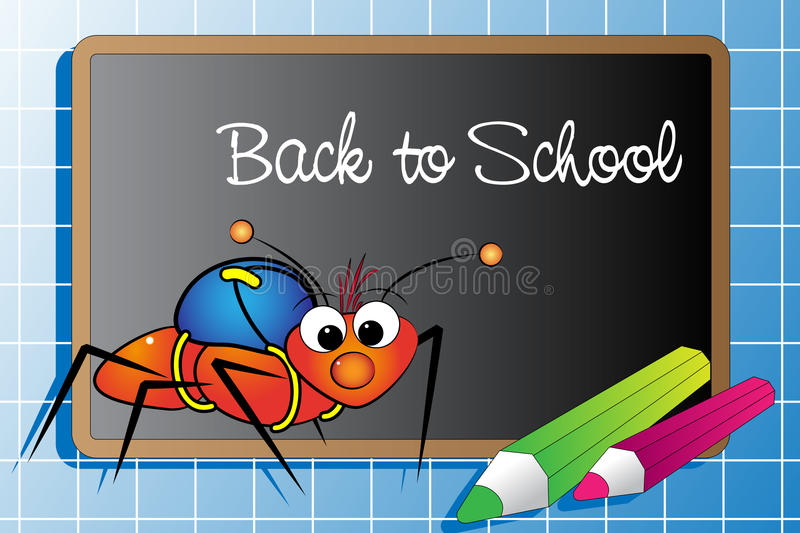 Download Back to school with Ant stock vector. Image of drawings - 10563025