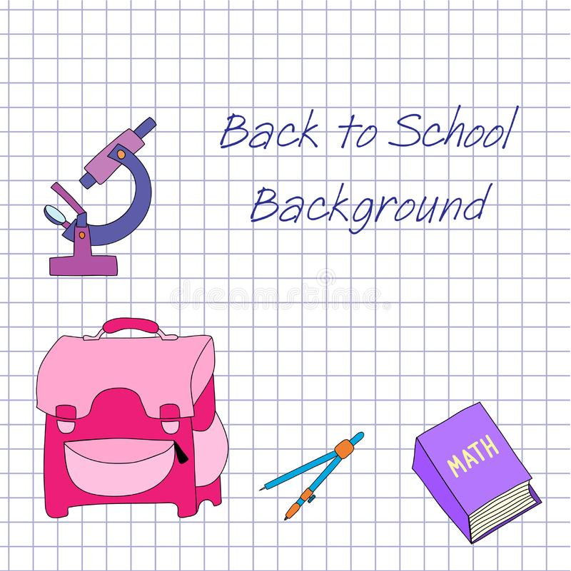 Download Back to school background stock vector. Illustration of cartoon - 15568709