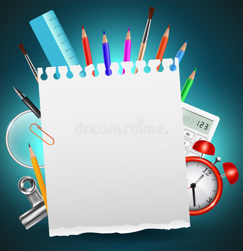Back to School Background or Card vector illustration
