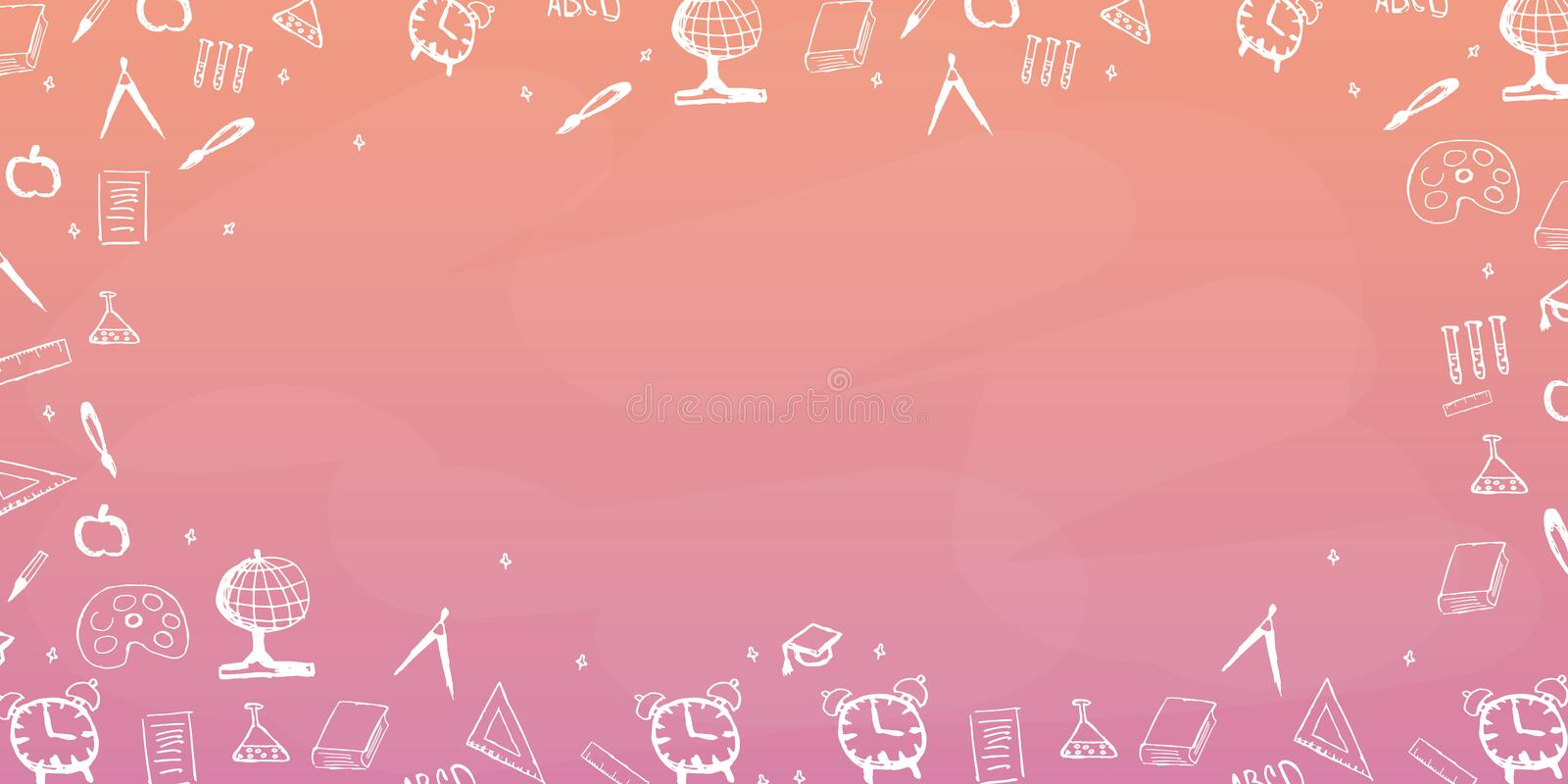 Back To School Background Education Banner Vector Illustration Stock Illustration Illustration Of Colorful Background 97790080
