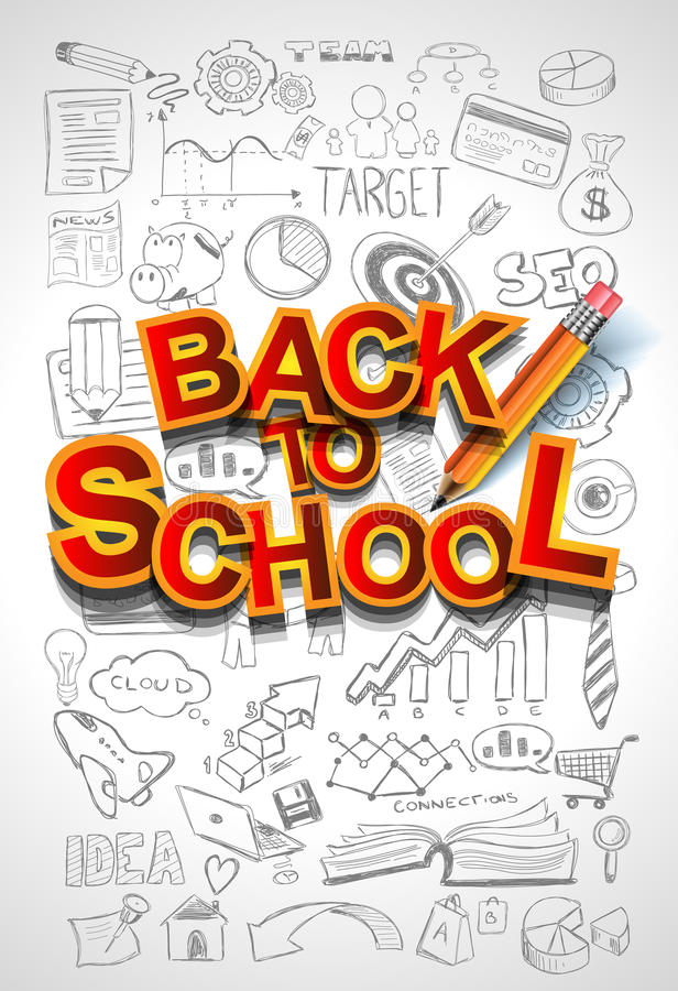 Free Back To School Background To Use Stock Image - 60610811