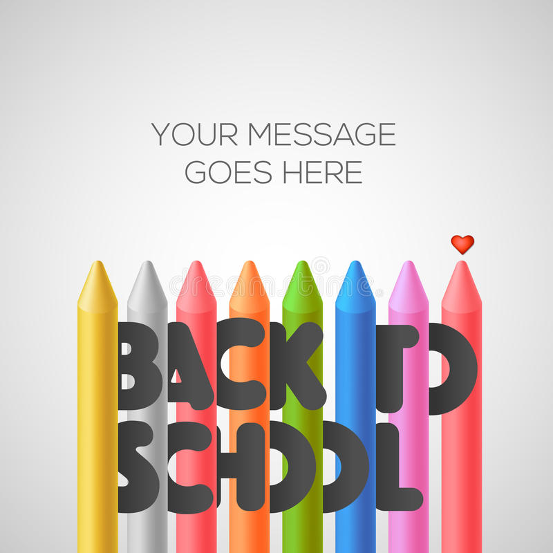 Free Back To School Background With Colorful Crayons Royalty Free Stock Images - 69322249