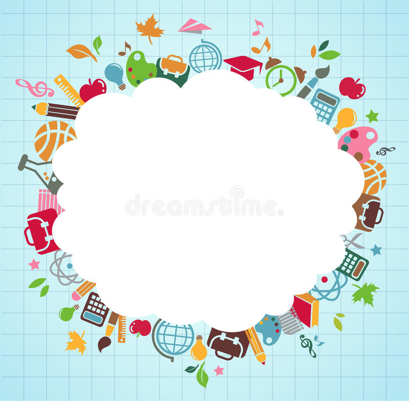 Free Back To School - Background With Education Icons Royalty Free Stock Images - 20121539