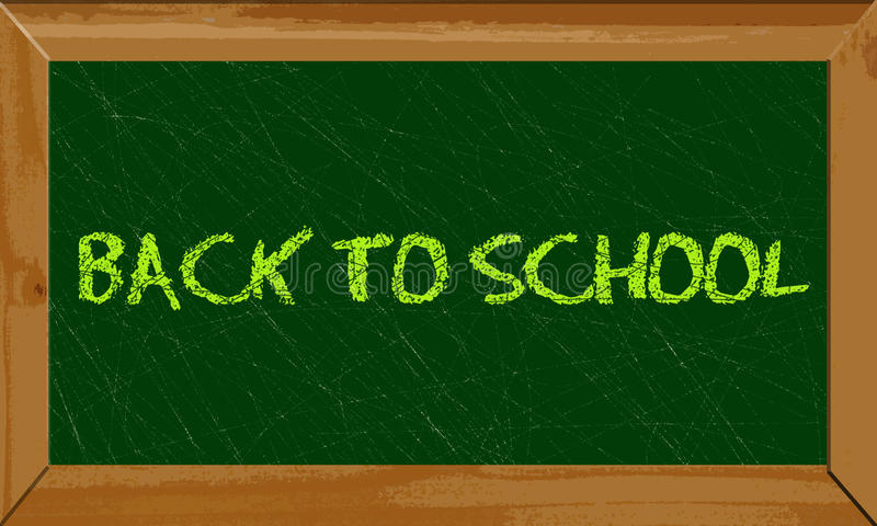 Back to school banner stock illustration