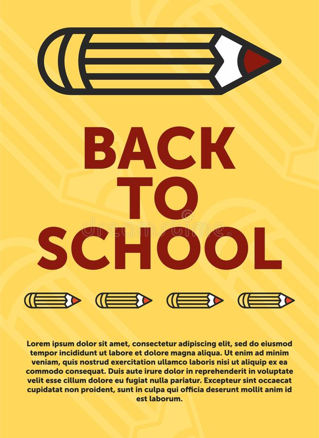 Back to school banner, poster, flat design colorful, vector backgound. web page vector illustration