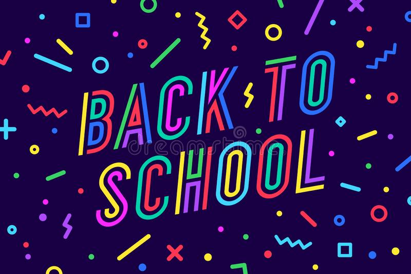 Back to School. Banner, speech bubble, poster, design stock photography