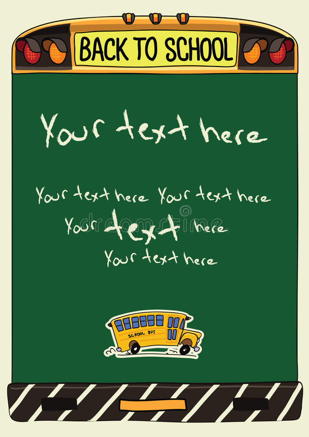 Back to school banner template stock illustration