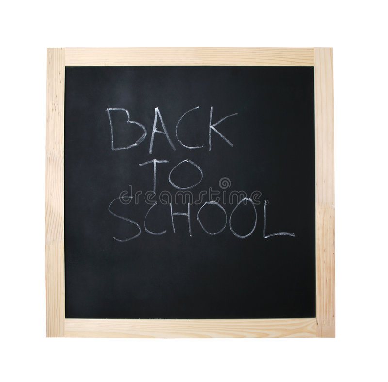 Back To School Black Board With Path Stock Photos