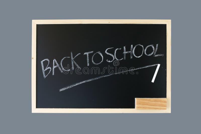 Back to school on blackboard stock photography