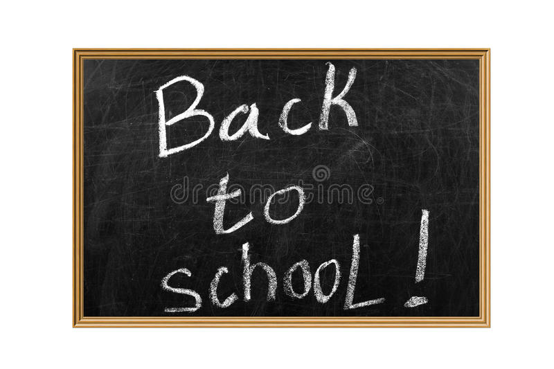Download Back To School On A Blackboard Royalty Free Stock Image - Image: 23163356