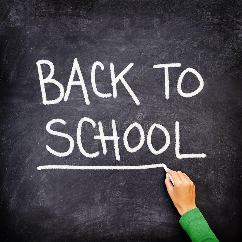 Back to school blackboard / chalkboard royalty free stock photo